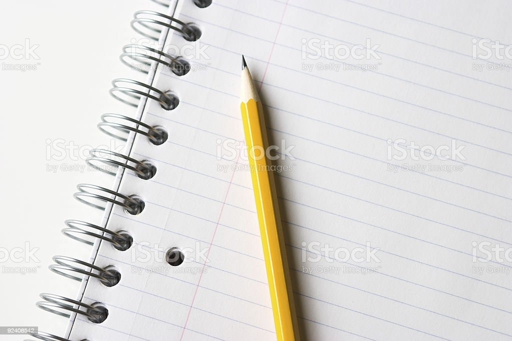 Pencil and Notebook royalty-free stock photo