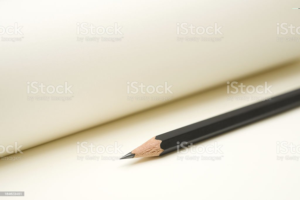 Pencil and Paper royalty-free stock photo