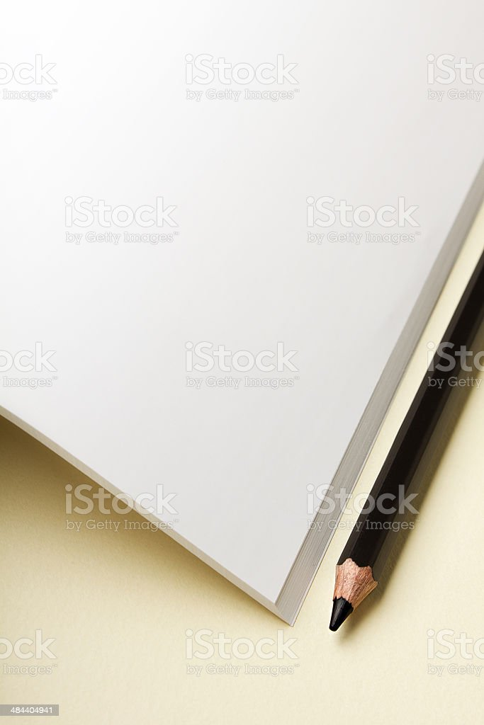 Pencil and paper stock photo