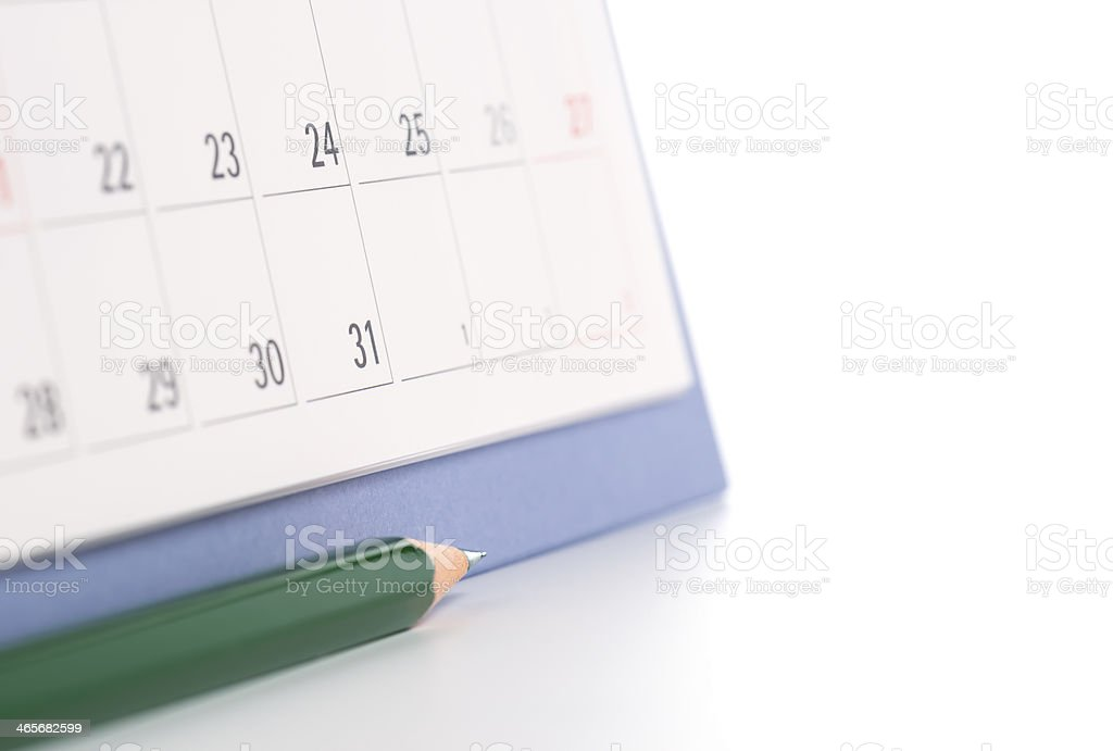 Pencil and schedule. royalty-free stock photo