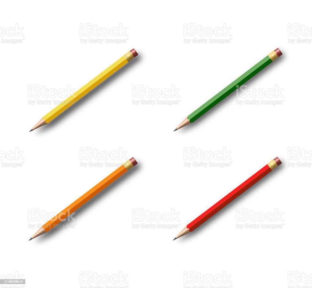 Pencil collection stock photo