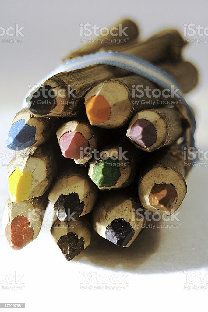 Pencil Crayons royalty-free stock photo
