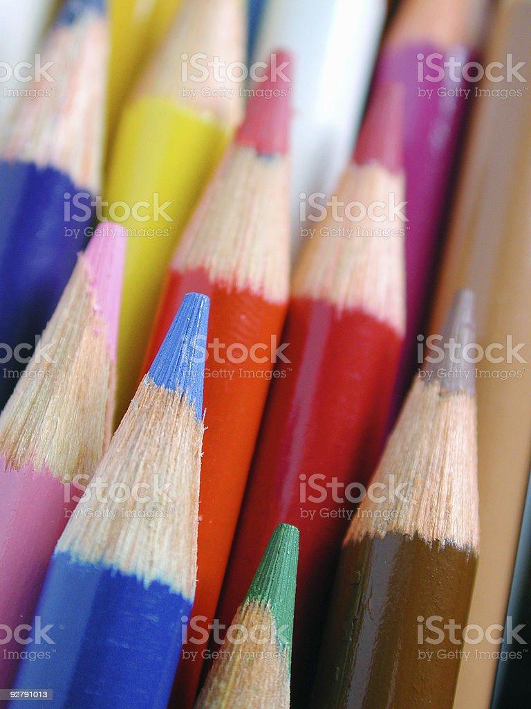 Pencil Crayons royalty-free stock photo