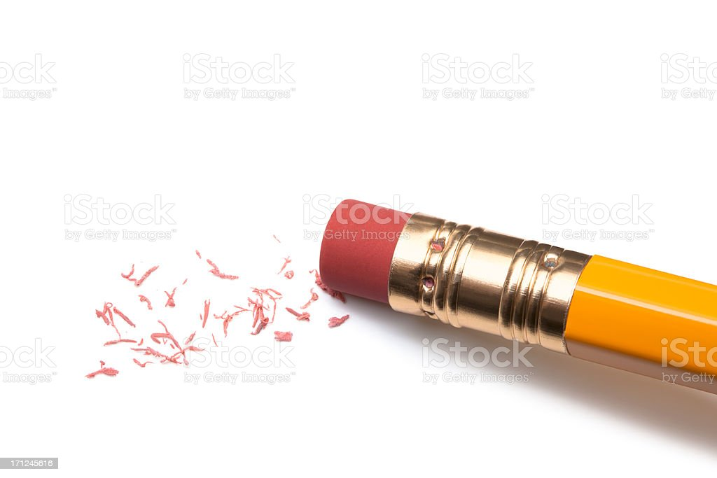 Pencil Eraser on white.