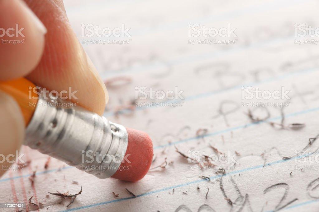 Pencil Eraser royalty-free stock photo