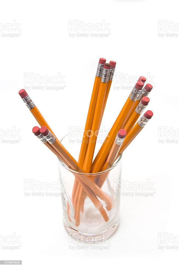 Pencil erasers stock photo