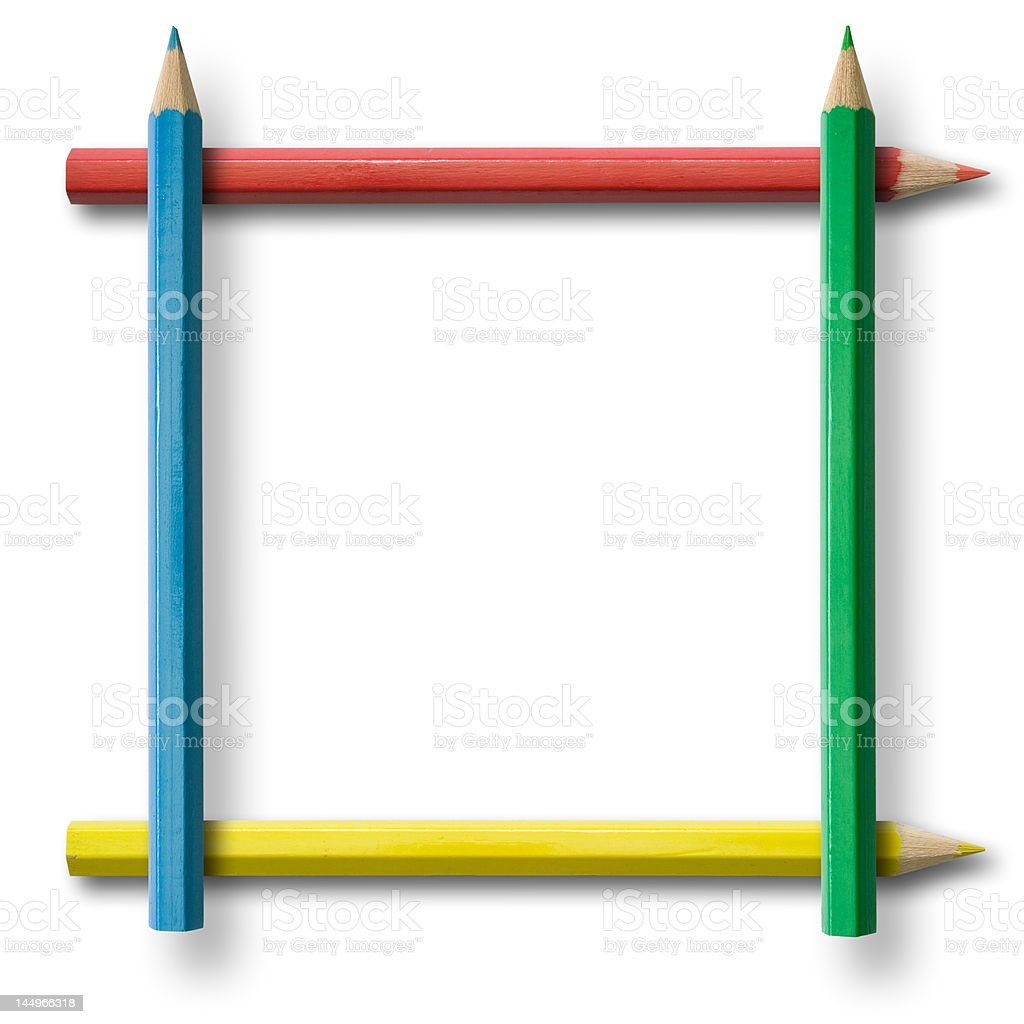 Pencil frame royalty-free stock photo