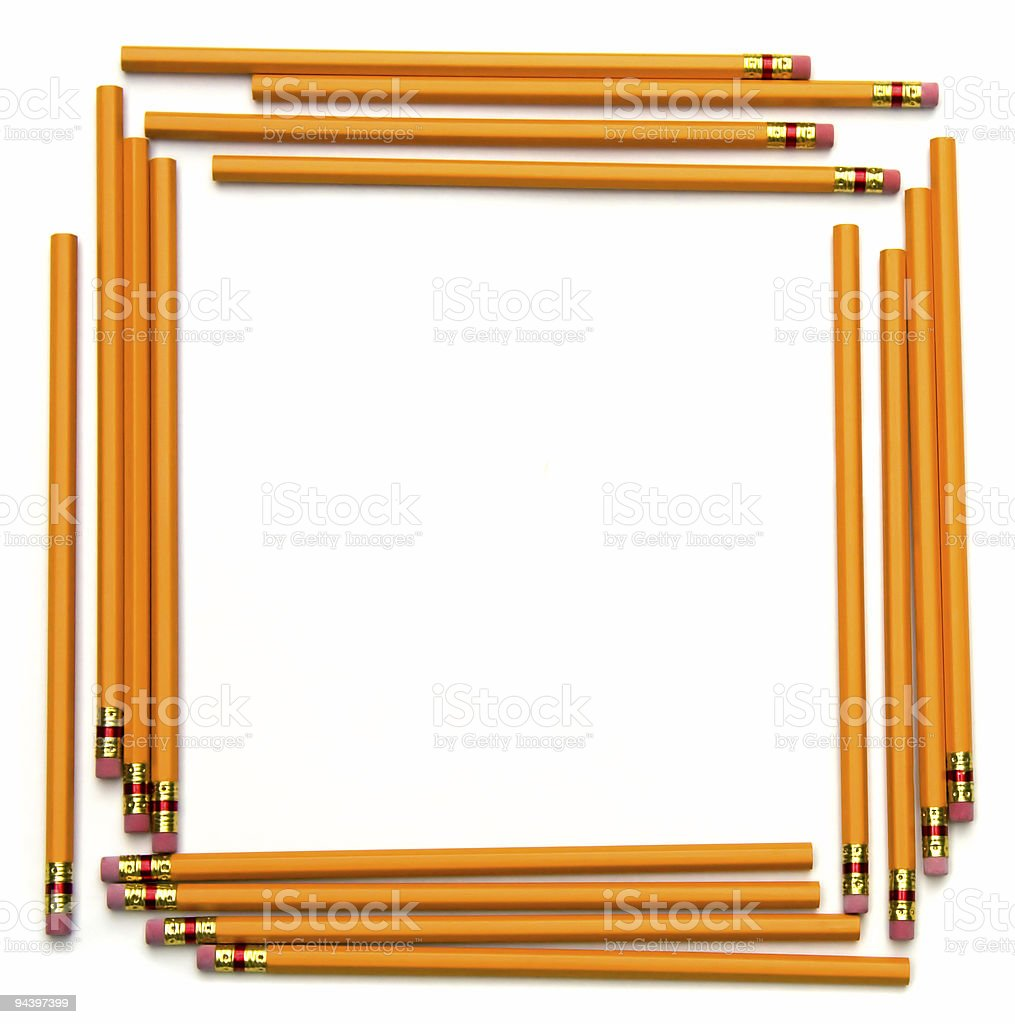 Pencil Frame stock photo