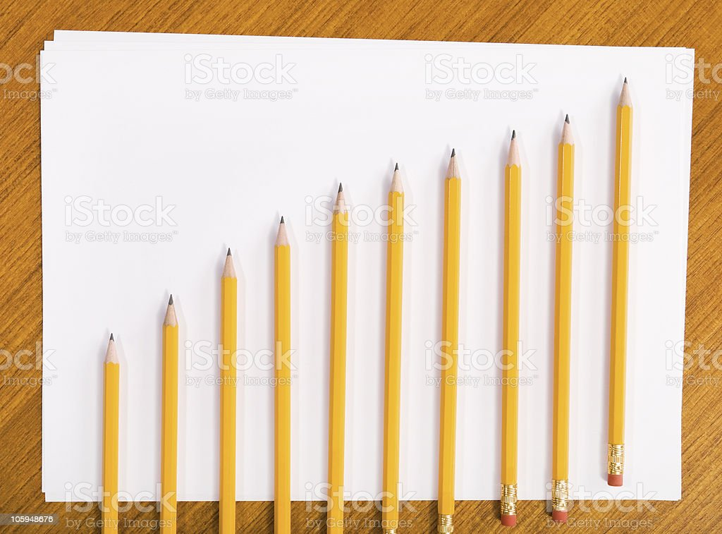 Pencil Graph stock photo