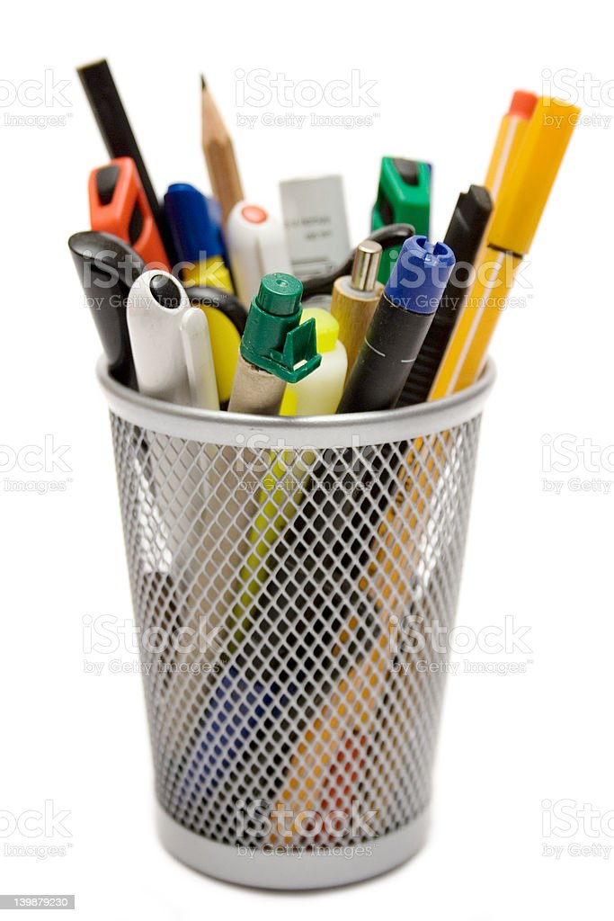 Pencil Holder stock photo