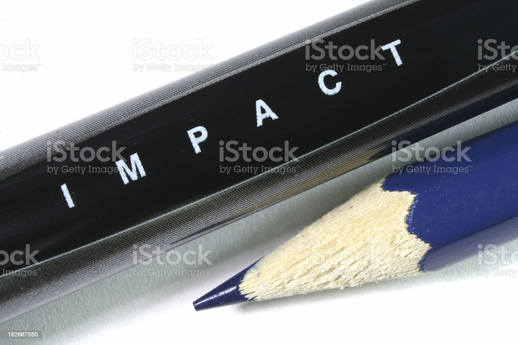 Pencil Impact royalty-free stock photo