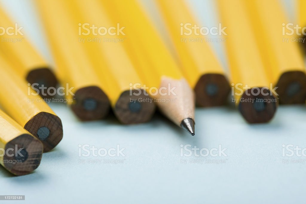 Pencil Macro royalty-free stock photo