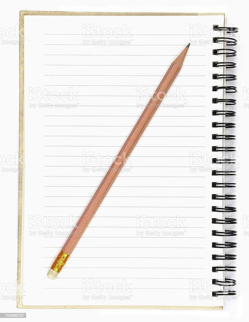 Pencil & Notebook royalty-free stock photo