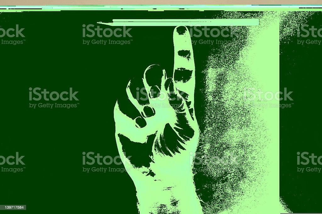 Pencil on a finger royalty-free stock photo