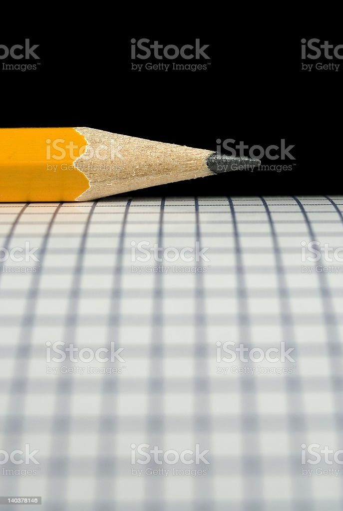Pencil on Drafting paper. royalty-free stock photo