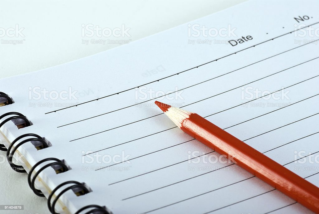 pencil on note book royalty-free stock photo