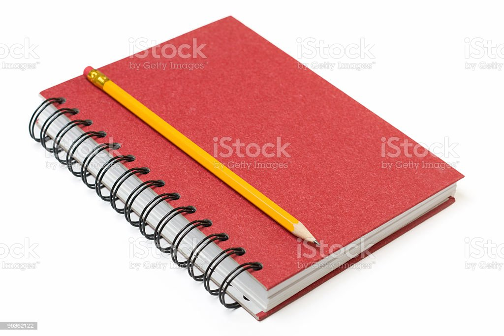 Pencil on Notebook stock photo