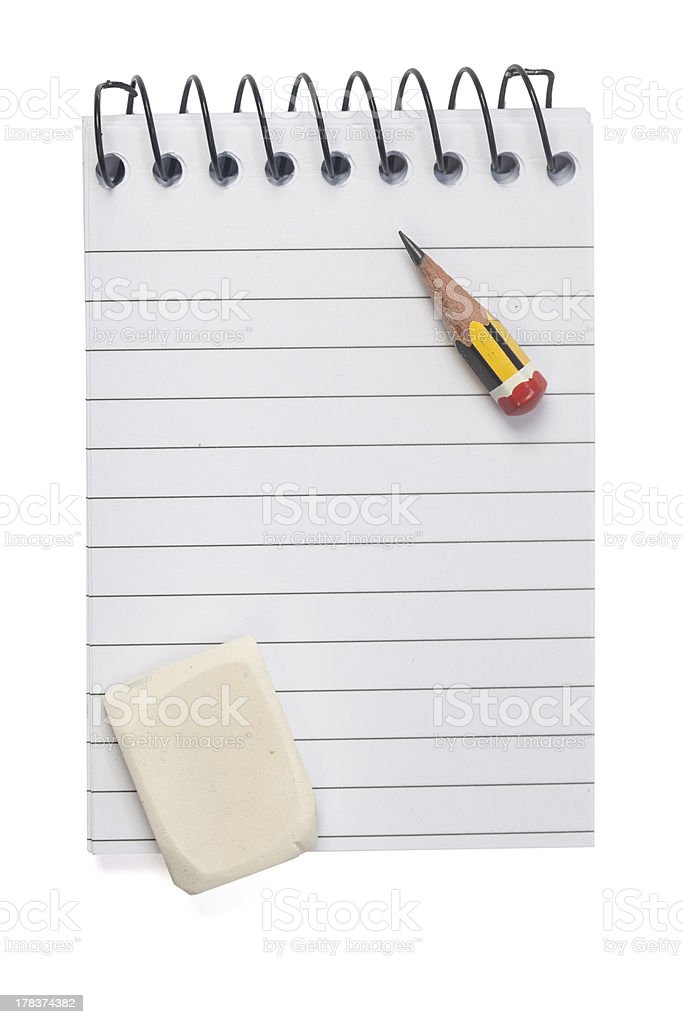 Pencil on Notepad royalty-free stock photo