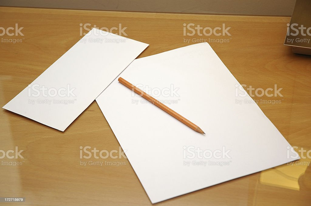 pencil on paper stock photo