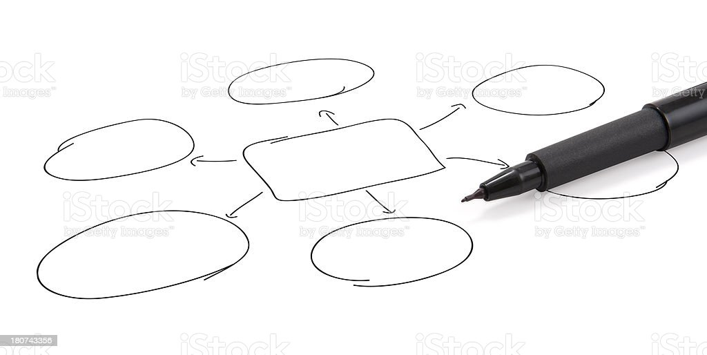 Pencil on the graphic chart royalty-free stock photo