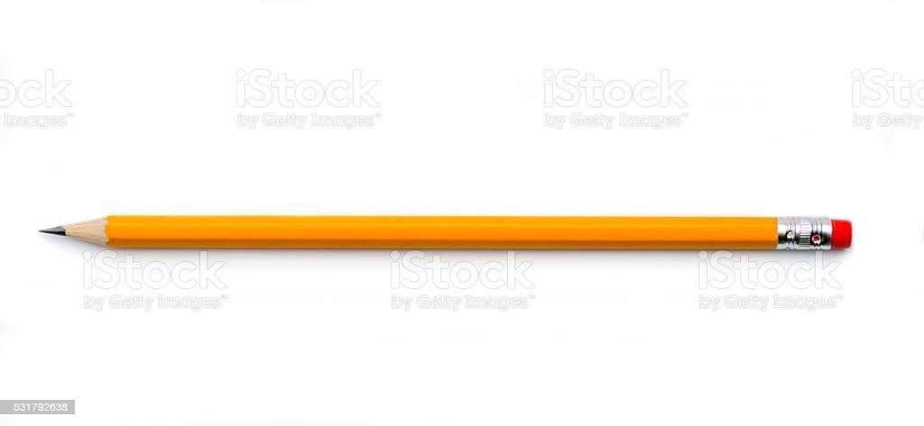 Pencil on white background stock photo