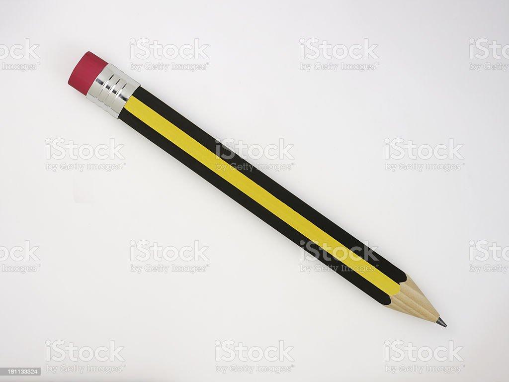 Pencil On White royalty-free stock photo