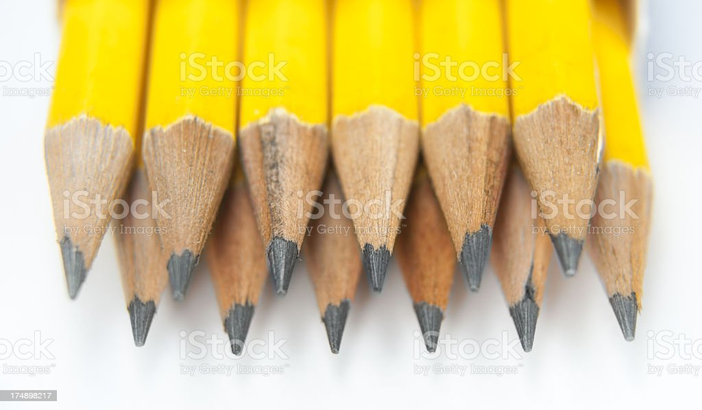 Pencil Pack Close Up royalty-free stock photo