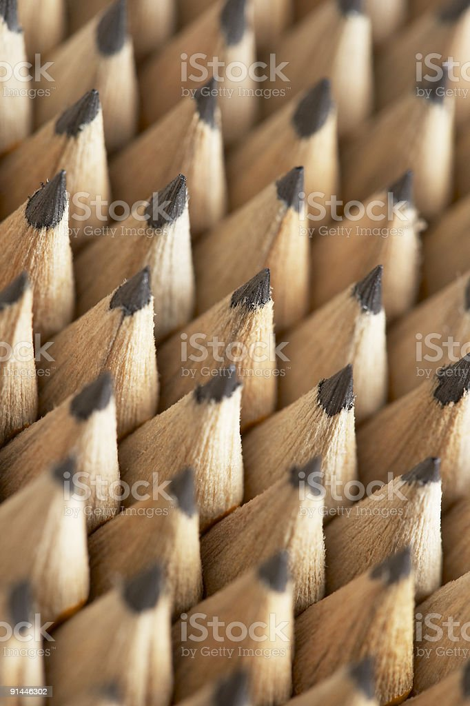 Pencil Points and lead tips stock photo