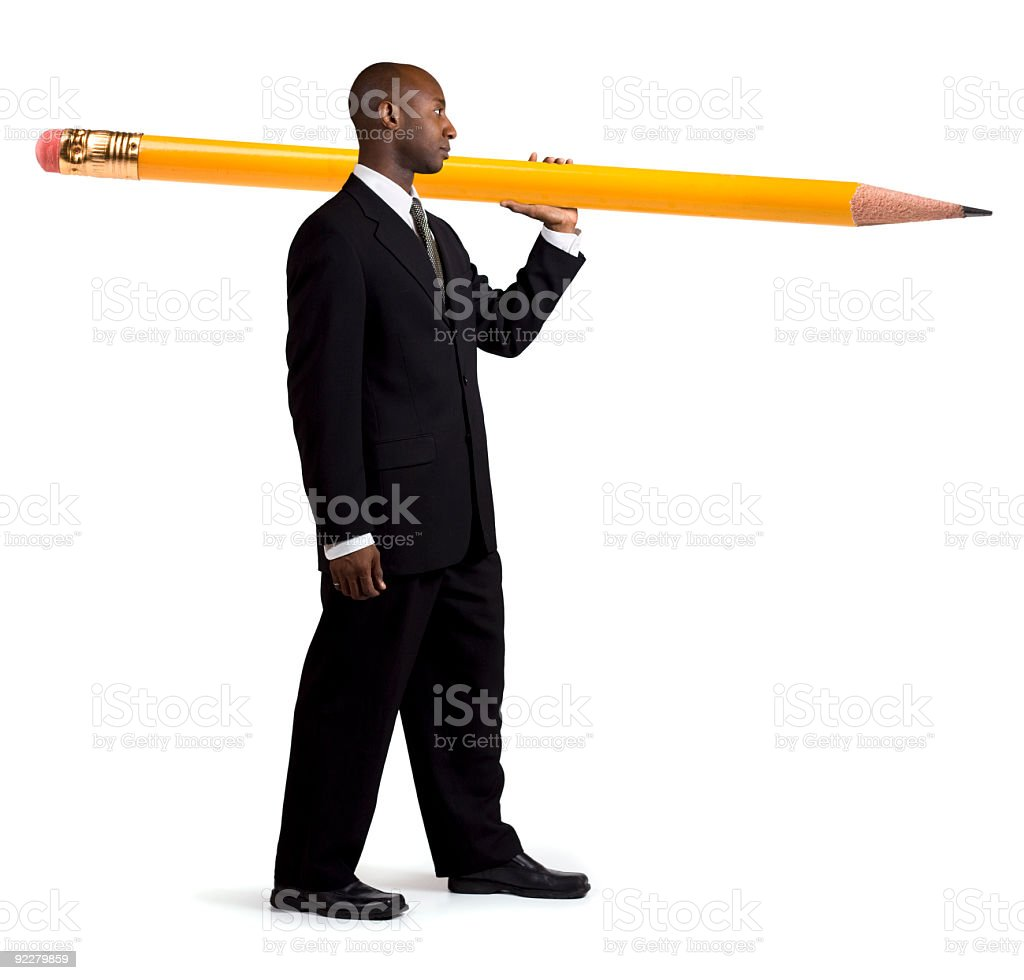Pencil Ready For Action stock photo