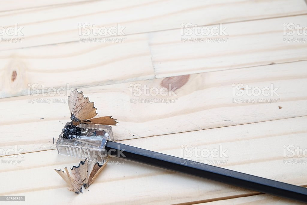 Pencil Shaved stock photo