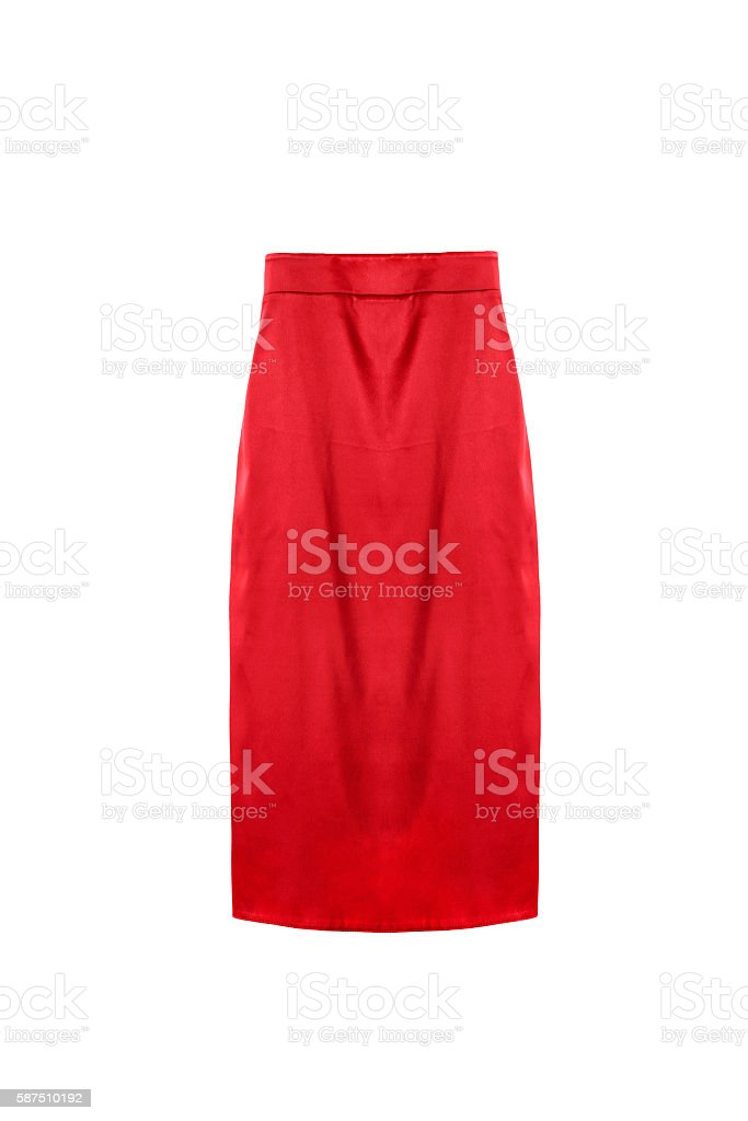 Pencil skirt isolated stock photo