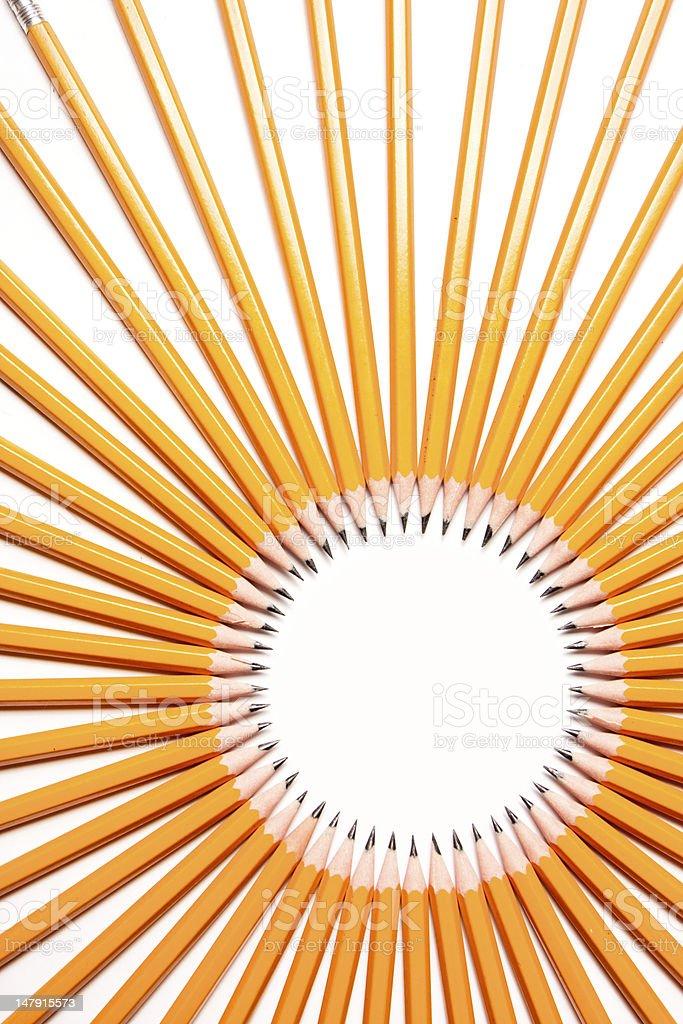 Pencil Sun stock photo