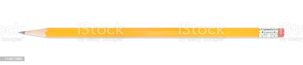 Pencil with Clipping Path stock photo