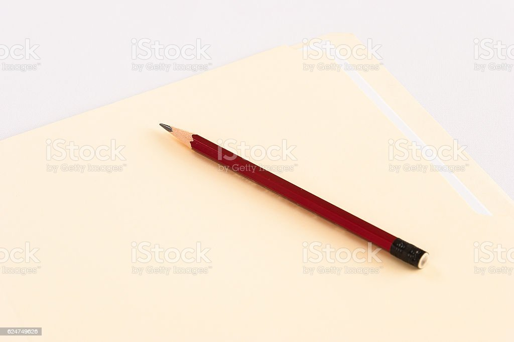 Pencil with folder stock photo