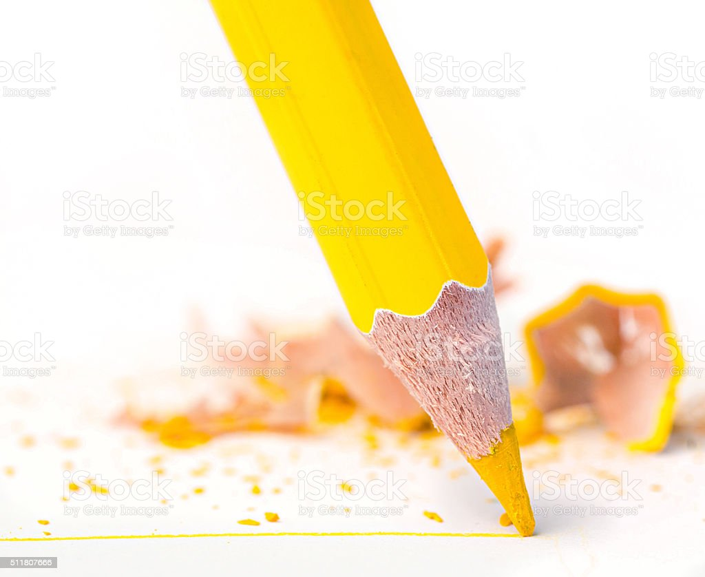 pencil with line stock photo