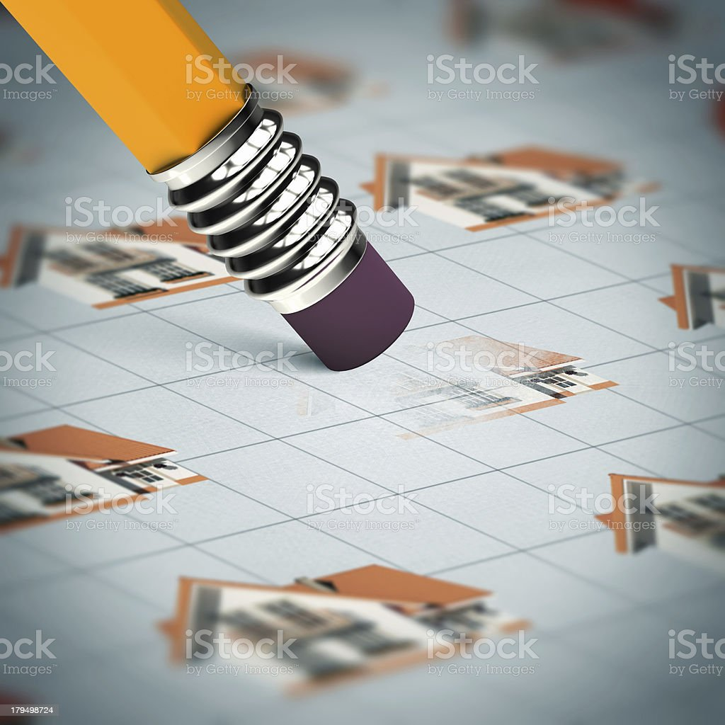 Pencil with rubber royalty-free stock photo