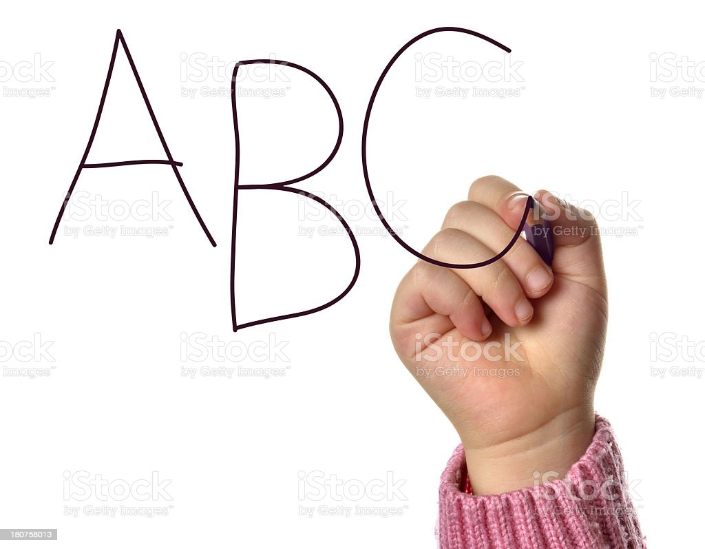 Pencil Writing ABC stock photo