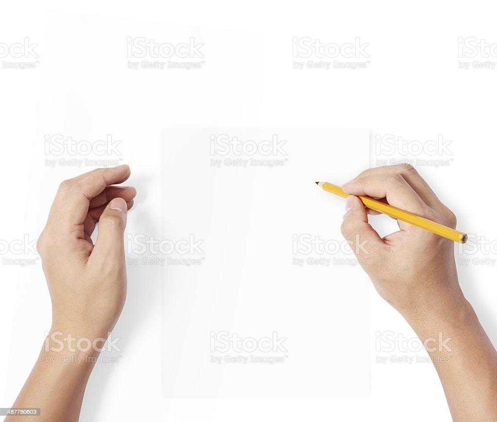 pencil writting something stock photo