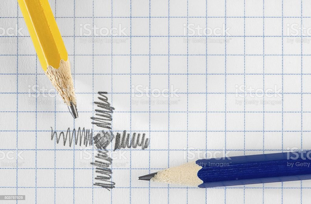 Pencils and paper royalty-free stock photo