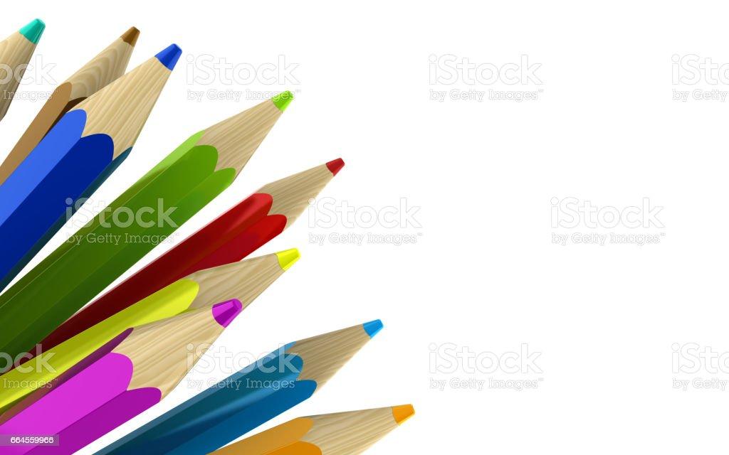 pencils background stock photo