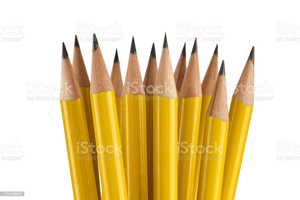 Pencils Bunch royalty-free stock photo