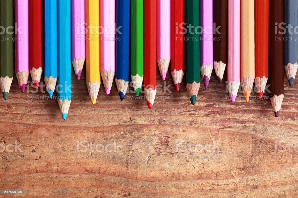 Pencils closeup stock photo