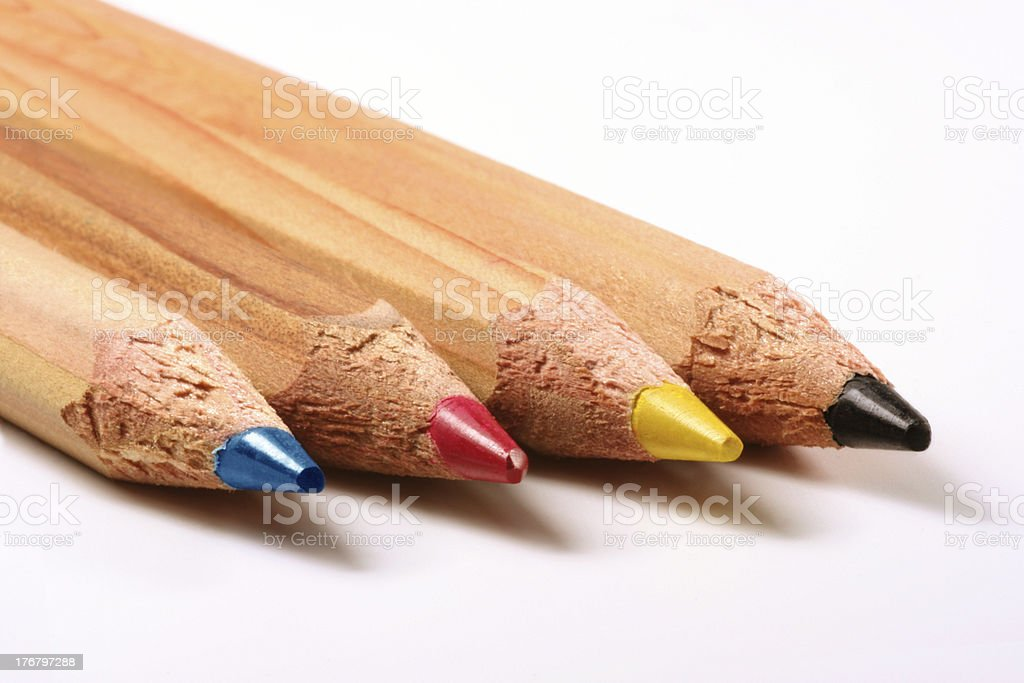 Pencils CMYK royalty-free stock photo