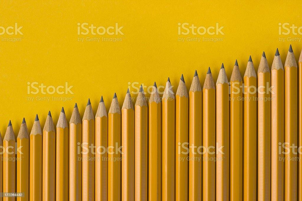 Pencils Diagonally royalty-free stock photo