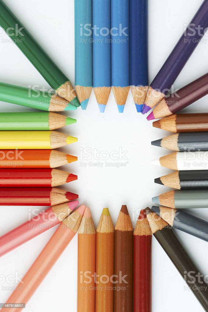 pencils frame stock photo