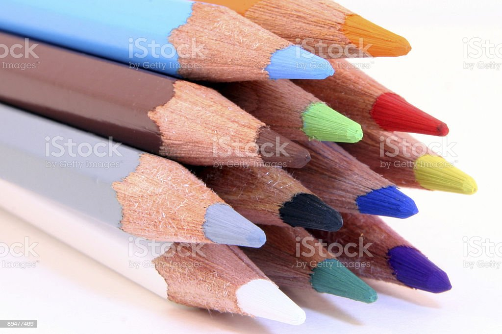 Pencils heads royalty-free stock photo