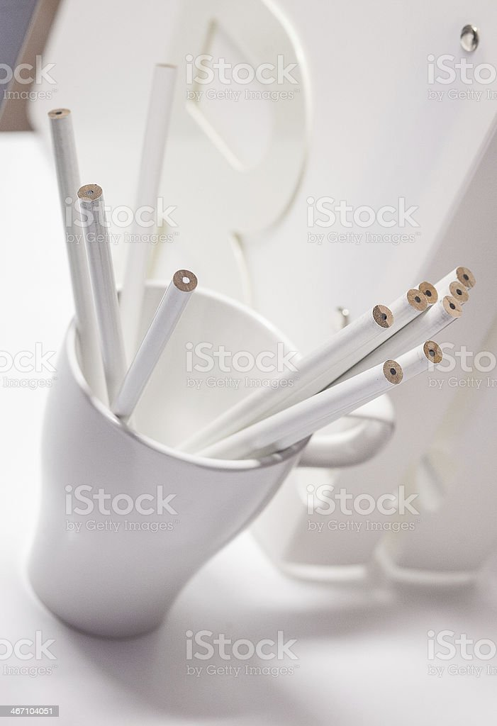 pencils in a  cup royalty-free stock photo