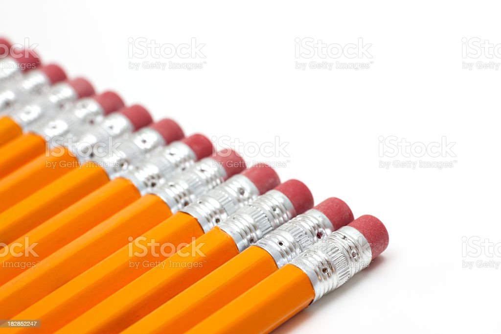 Bleistifte in einer Reihe – Foto