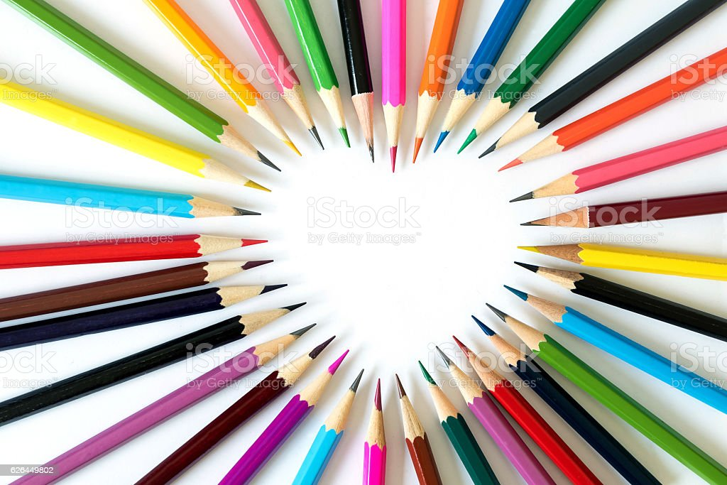 Pencils in love. stock photo