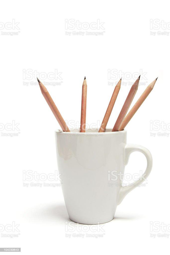 Pencils in Mug stock photo
